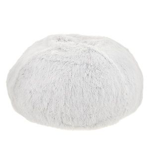 NWOT⎜Top Paw⎜White Tipped Pouf Bed⎜White / Grey